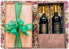 2 Bottle Wooden Box